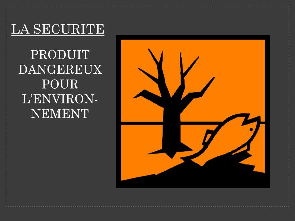 PRODUIT DANGEREUX POUR L'ENVIRON-NEMENT