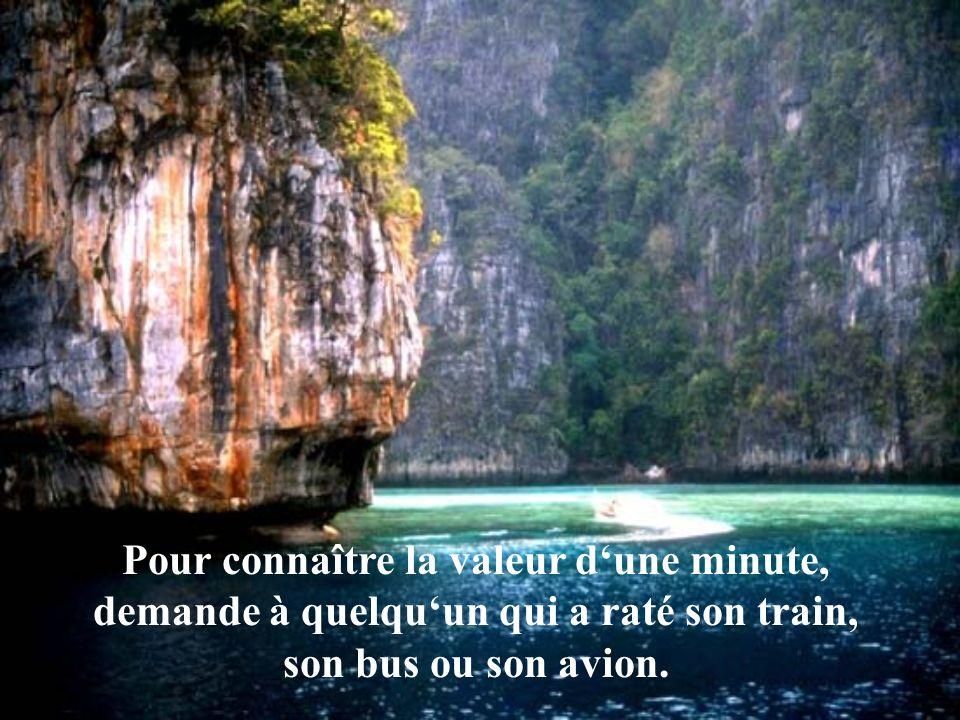 Pour connaître la valeur d'une minute, demande à quelqu'un qui a raté son train, son bus ou son avion.