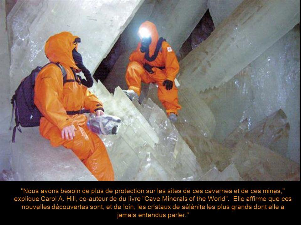Nous avons besoin de plus de protection sur les sites de ces cavernes et de ces mines, explique Carol A.