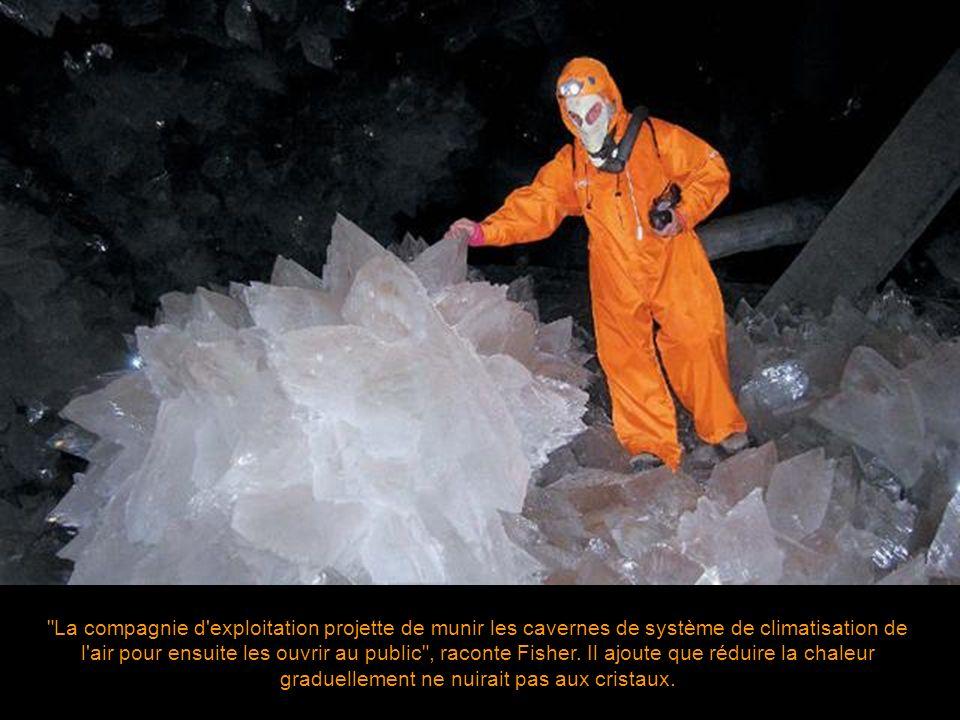 La compagnie d exploitation projette de munir les cavernes de système de climatisation de l air pour ensuite les ouvrir au public , raconte Fisher.