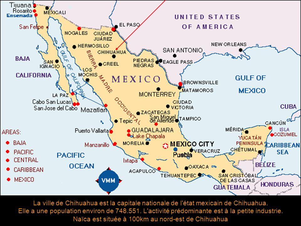Naïca est située à 100km au nord-est de Chihuahua