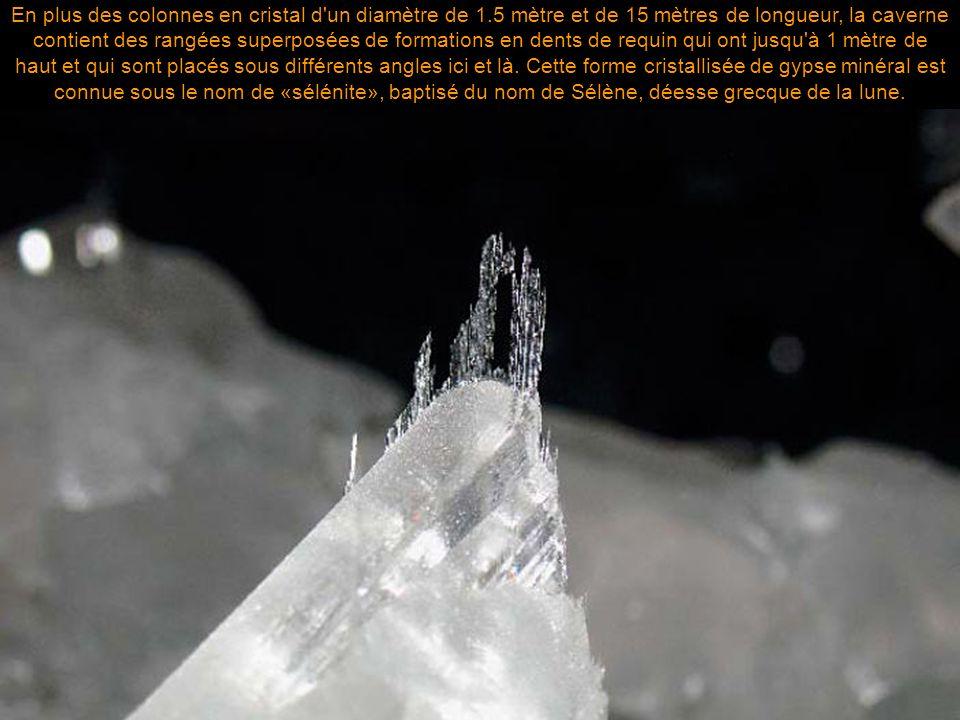 En plus des colonnes en cristal d un diamètre de 1