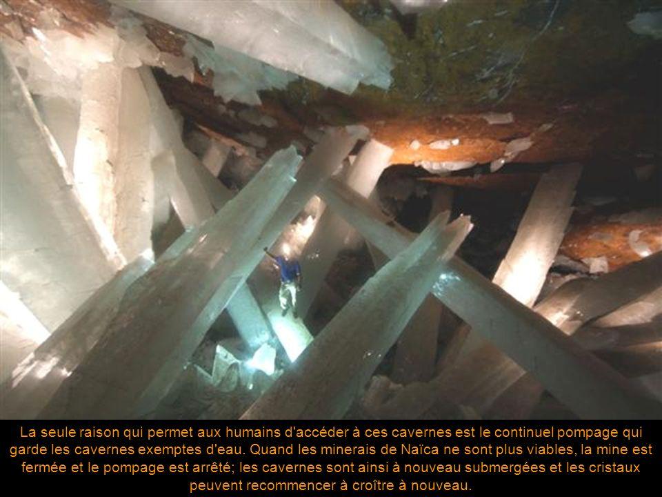La seule raison qui permet aux humains d accéder à ces cavernes est le continuel pompage qui garde les cavernes exemptes d eau.
