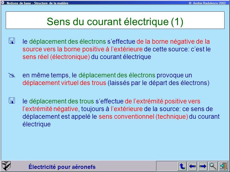 Sens du courant électrique (1)