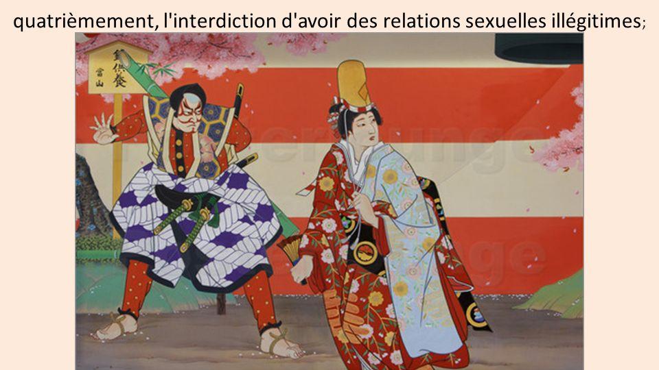 quatrièmement, l interdiction d avoir des relations sexuelles illégitimes;