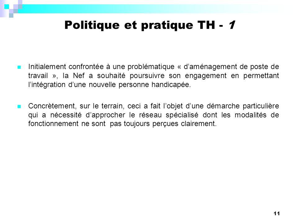 Politique et pratique TH - 1