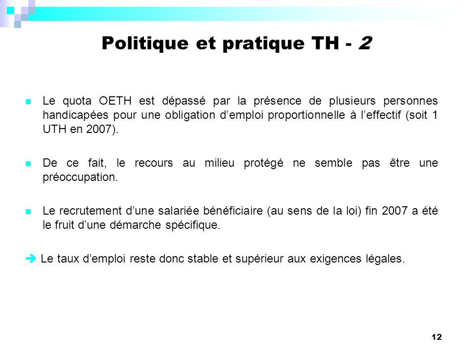 Politique et pratique TH - 2