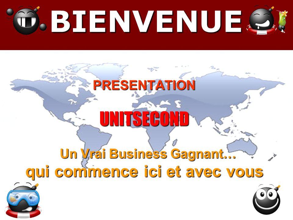 BIENVENUE PRESENTATION UNITSECOND Un Vrai Business Gagnant… qui commence ici et avec vous.