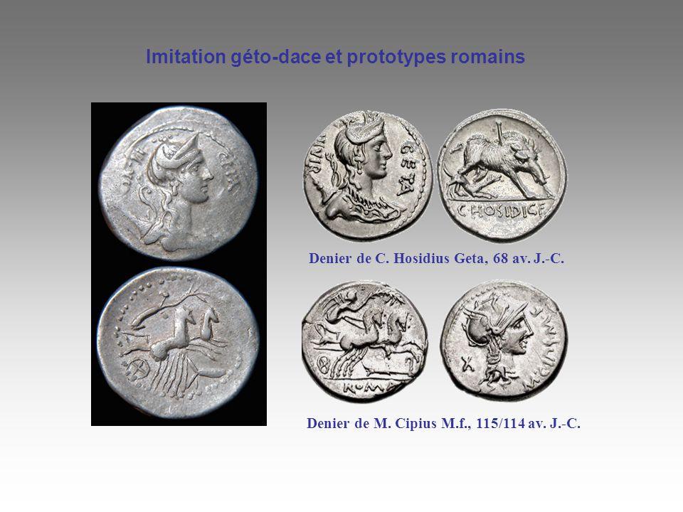 Imitation géto-dace et prototypes romains