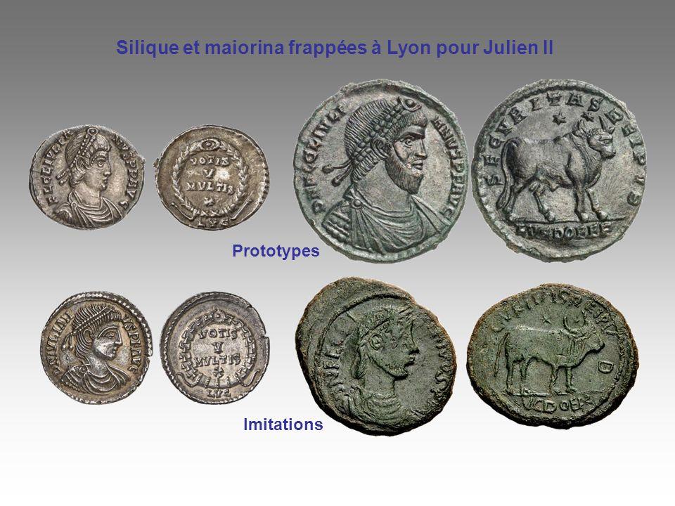 Silique et maiorina frappées à Lyon pour Julien II