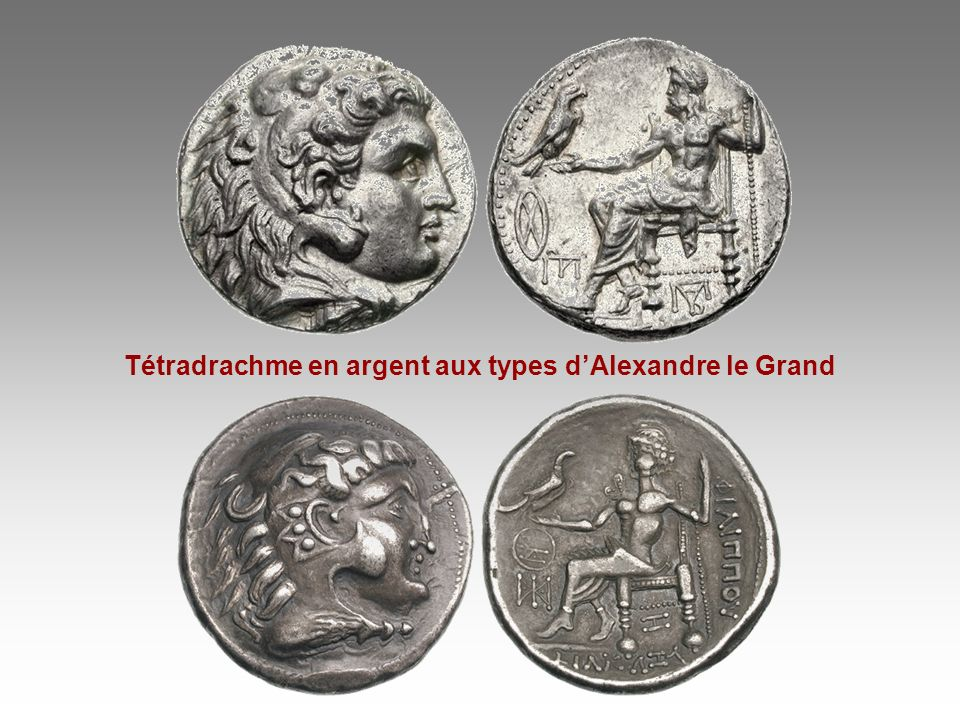 Tétradrachme en argent aux types d'Alexandre le Grand