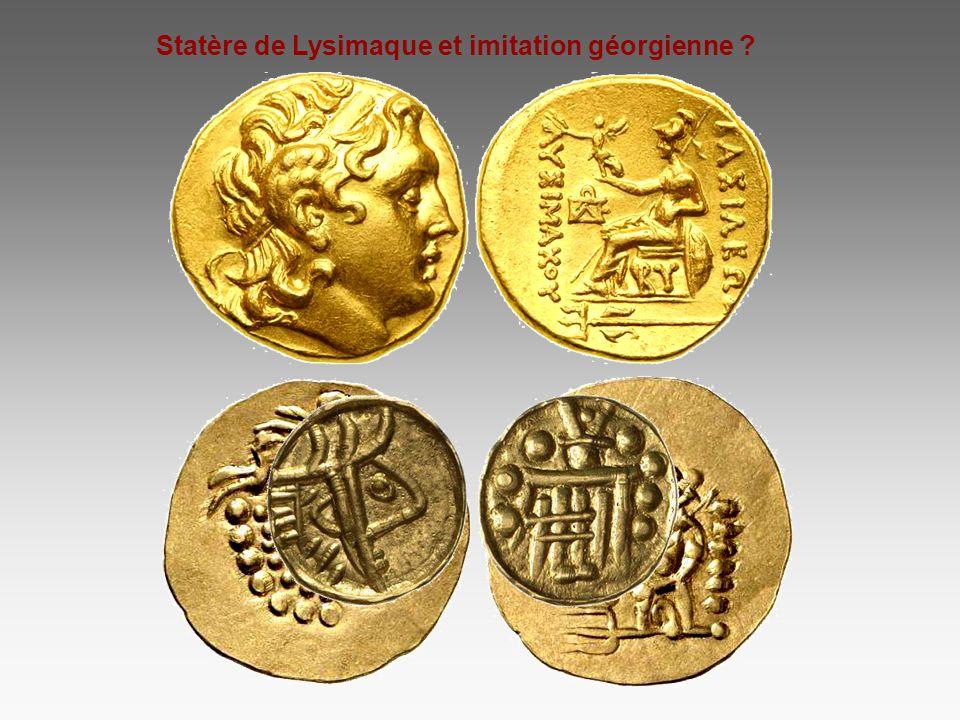 Statère de Lysimaque et imitation géorgienne