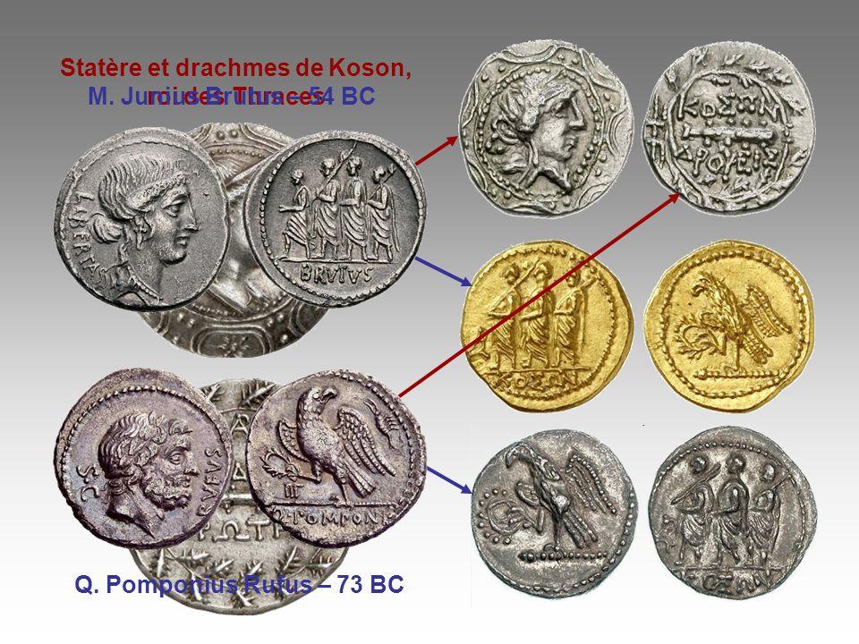 Statère et drachmes de Koson, roi des Thraces
