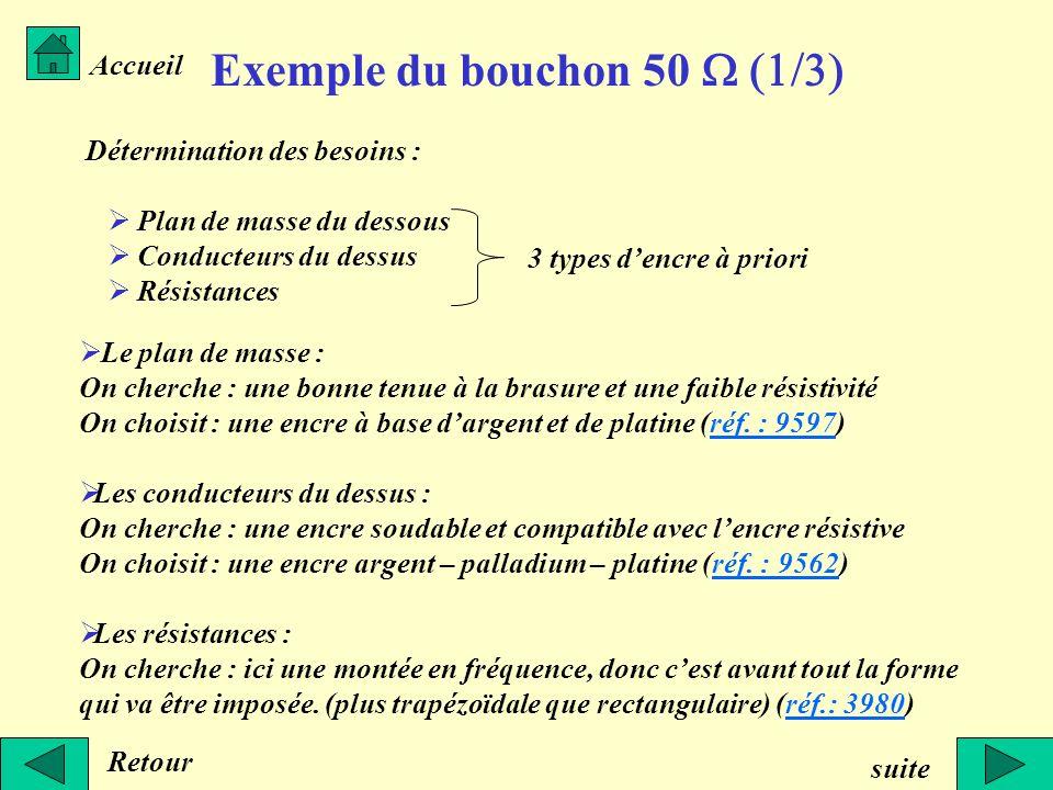 Exemple du bouchon 50 W (1/3)