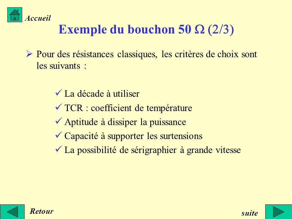 Exemple du bouchon 50 W (2/3)