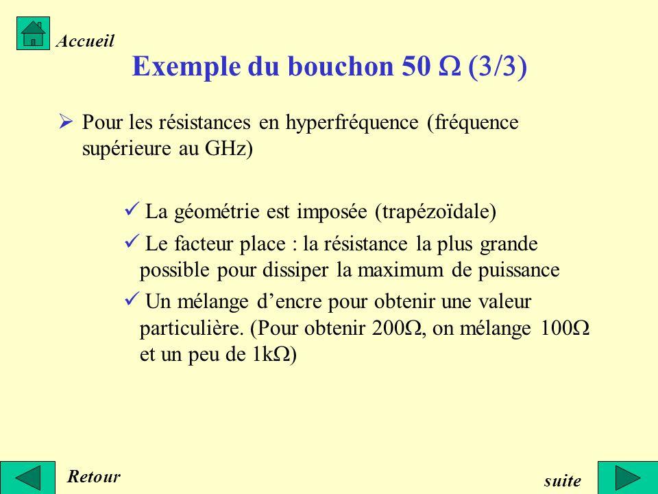 Exemple du bouchon 50 W (3/3)