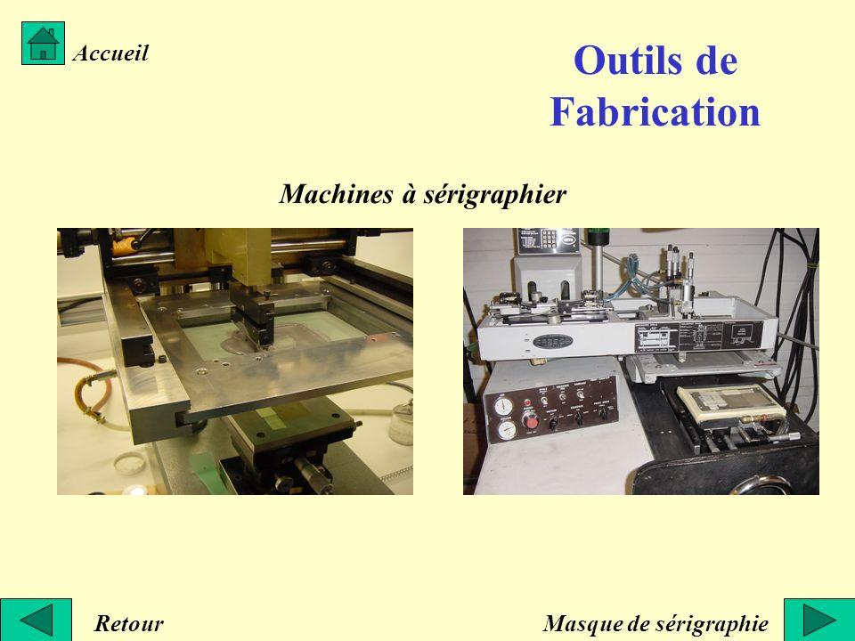Outils de Fabrication Machines à sérigraphier Accueil Retour
