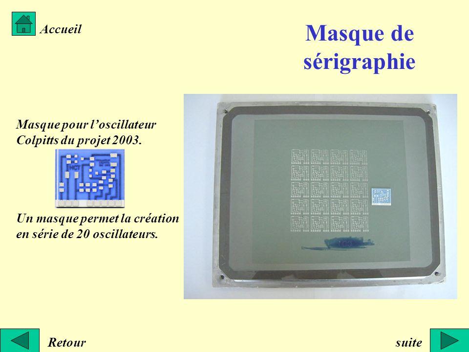 Masque de sérigraphie Accueil Masque pour l'oscillateur
