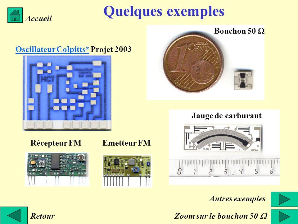 Quelques exemples Accueil Bouchon 50 W