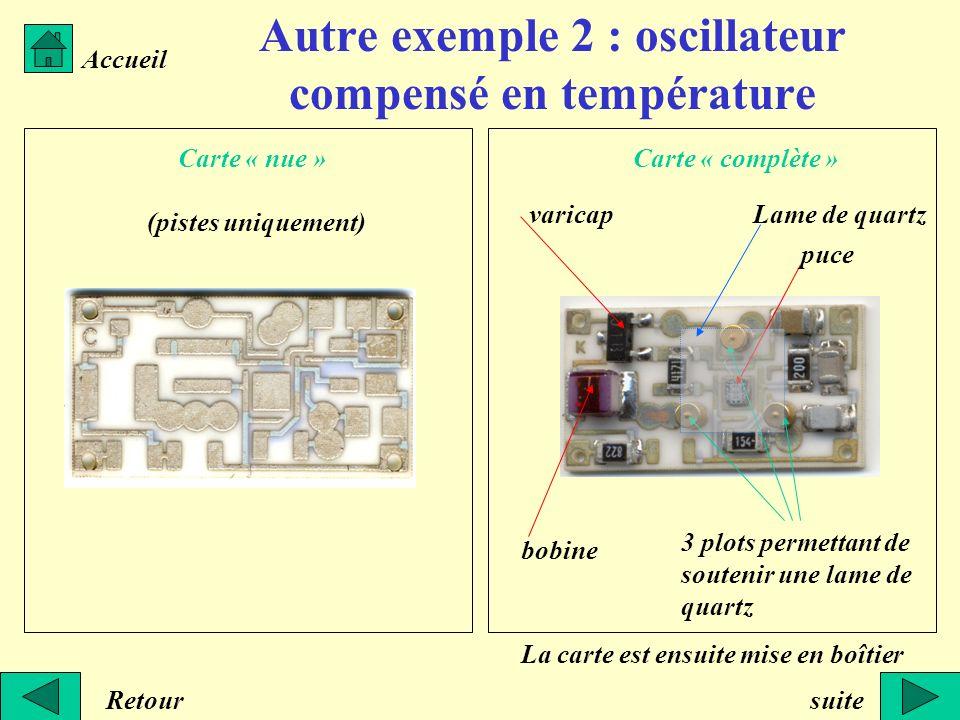 Autre exemple 2 : oscillateur compensé en température