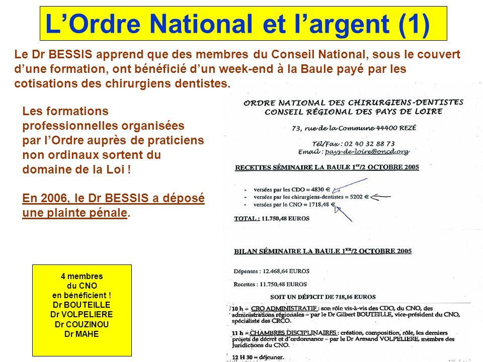 L'Ordre National et l'argent (1)