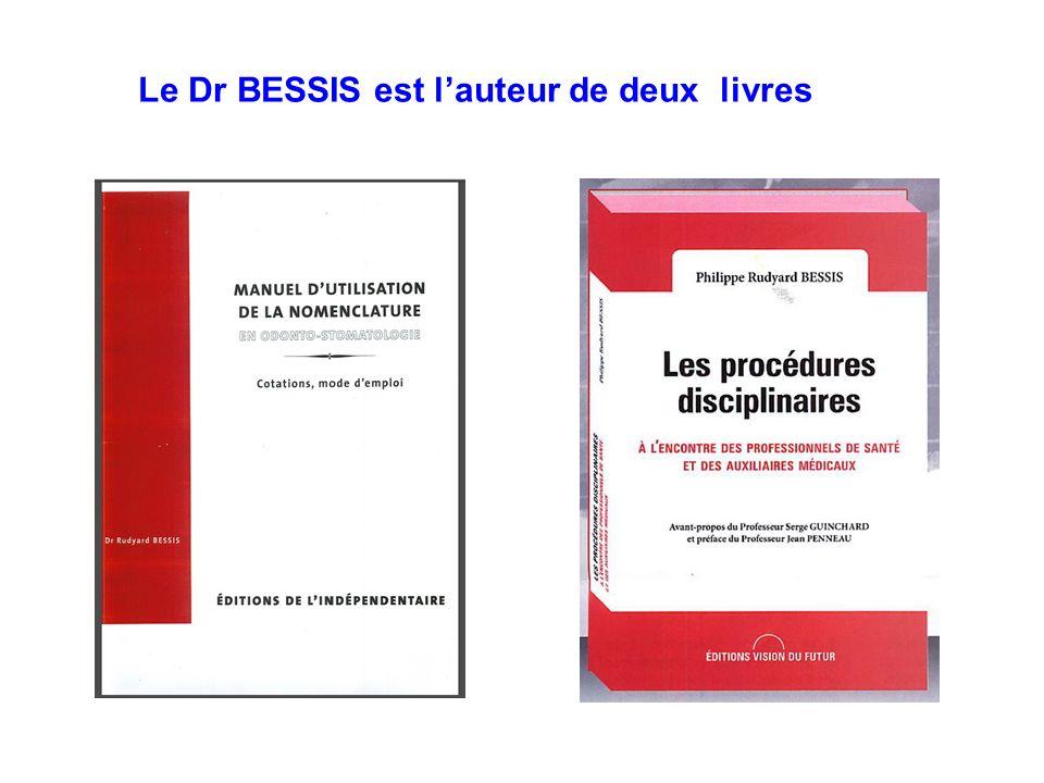 Le Dr BESSIS est l'auteur de deux livres