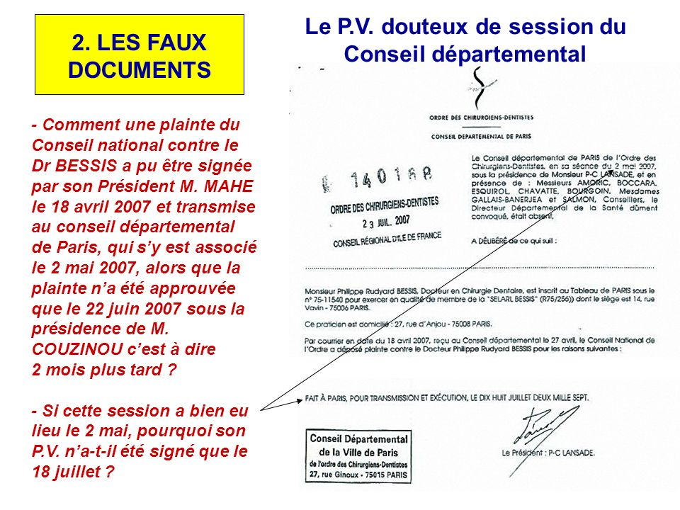 Le P.V. douteux de session du Conseil départemental