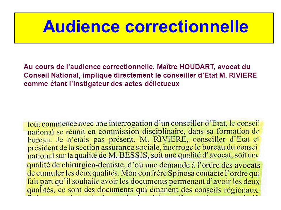 Audience correctionnelle