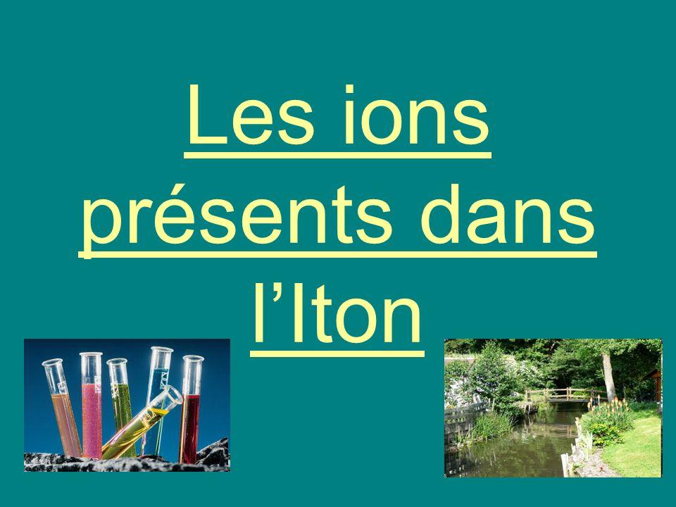 Les ions présents dans l'Iton