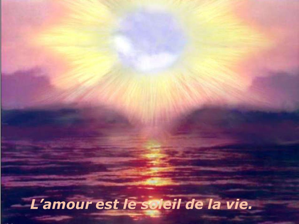 L'amour est le soleil de la vie.