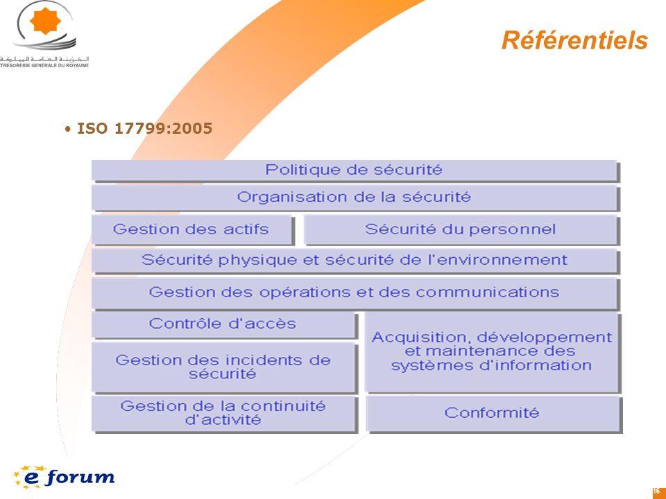 Référentiels ISO 17799:2005