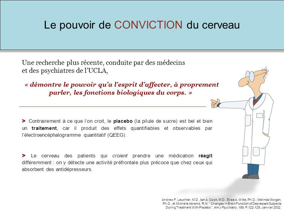 Le pouvoir de CONVICTION du cerveau