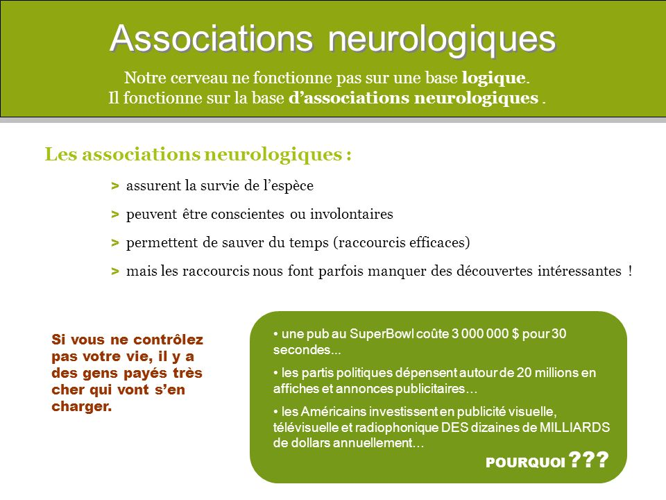 Associations neurologiques