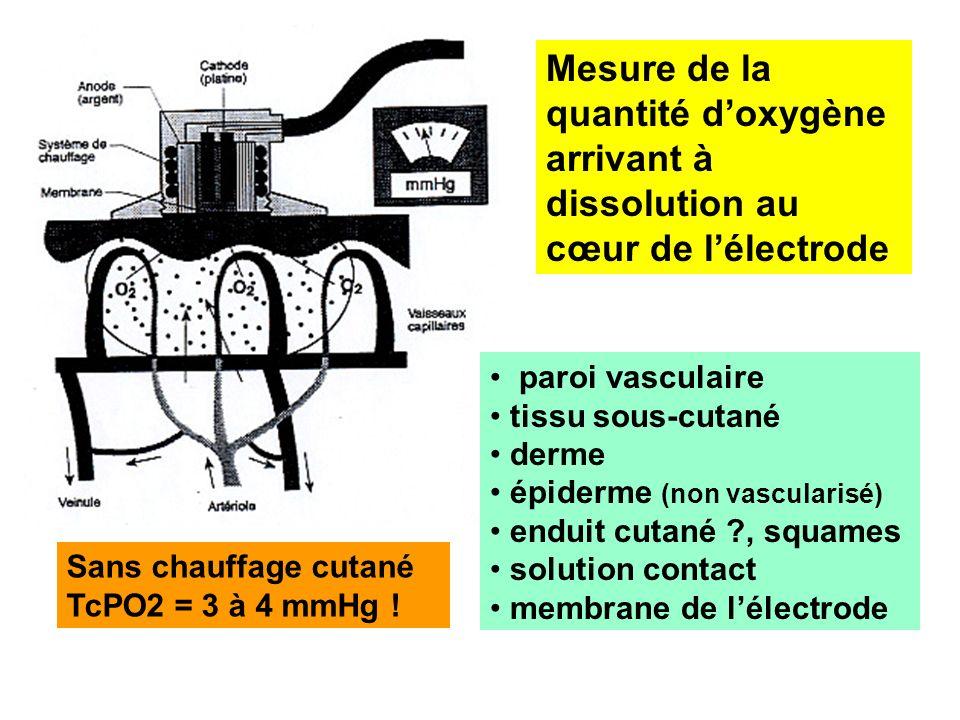 Mesure de la quantité d'oxygène arrivant à dissolution au cœur de l'électrode