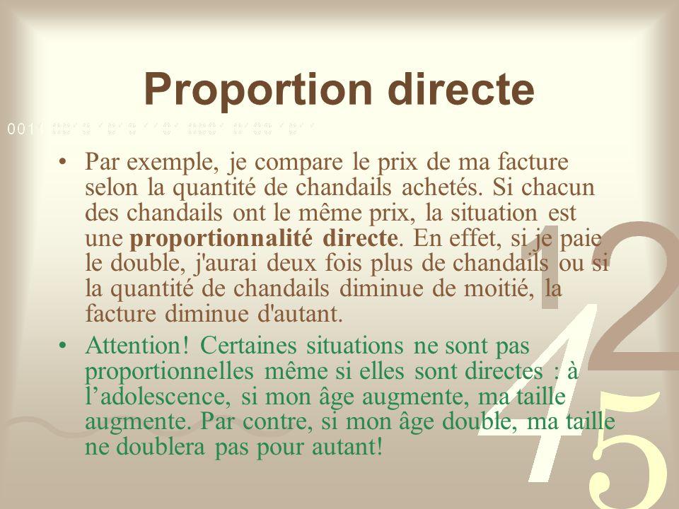 Proportion directe
