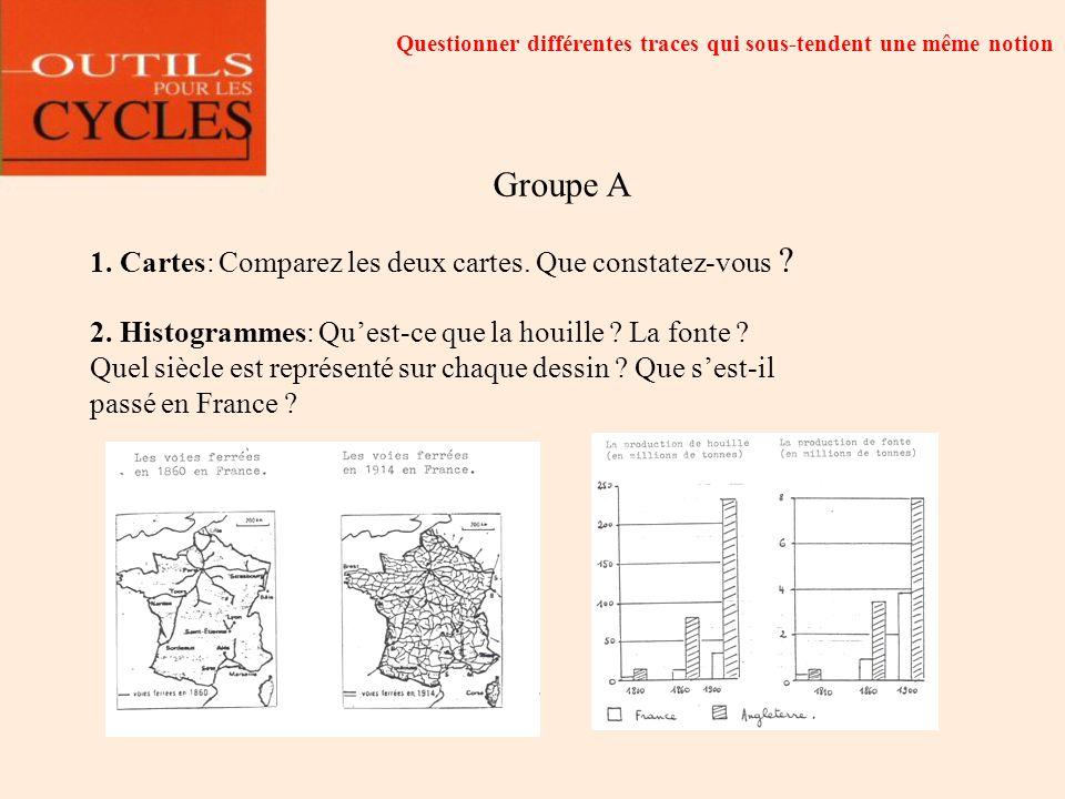 Groupe A 1. Cartes: Comparez les deux cartes. Que constatez-vous