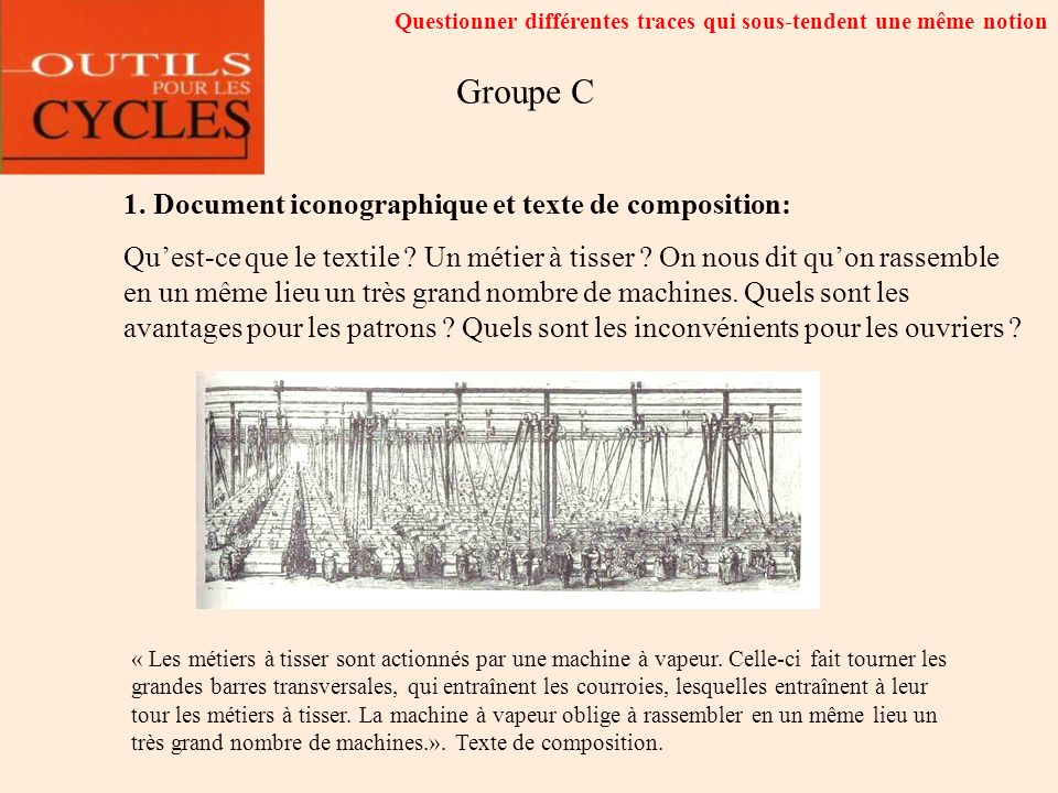 Groupe C 1. Document iconographique et texte de composition: