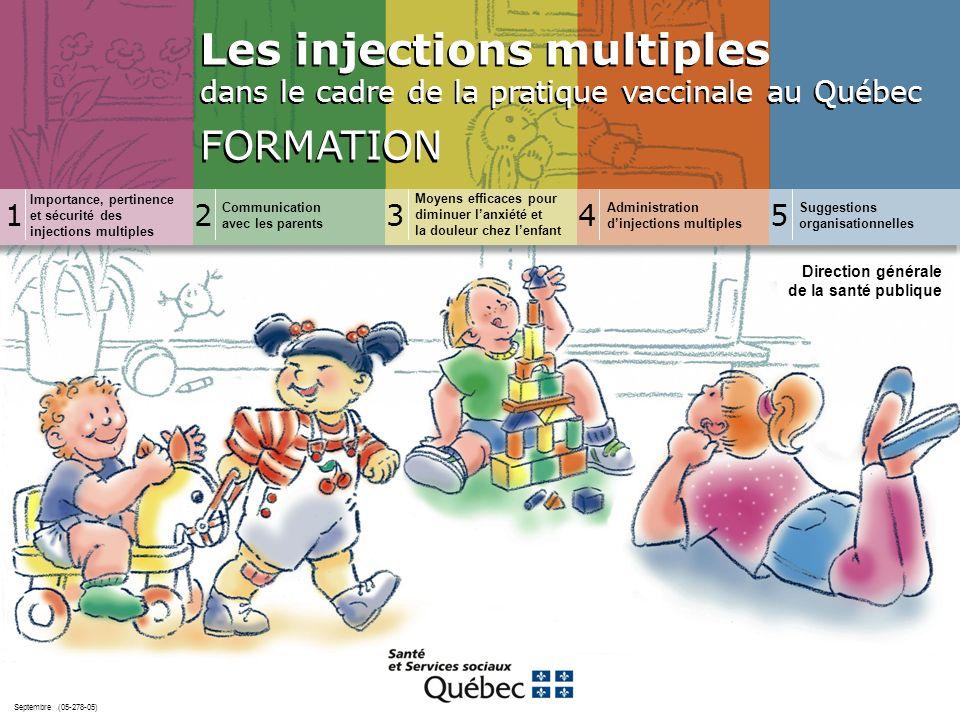 Les injections multiples dans le cadre de la pratique vaccinale au Québec