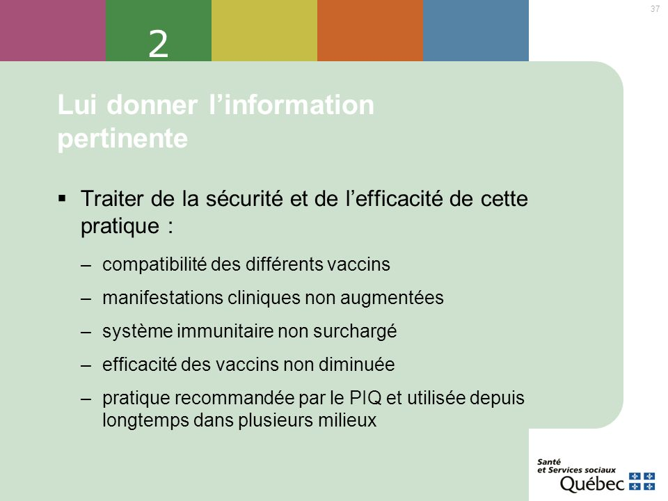 Lui donner l'information pertinente