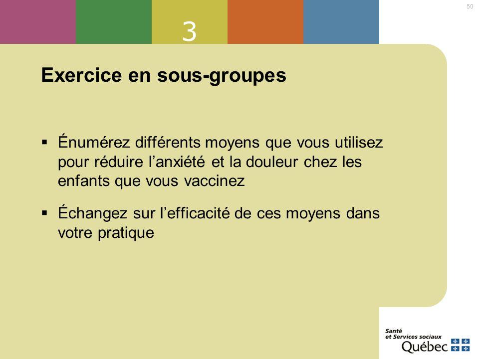 Exercice en sous-groupes