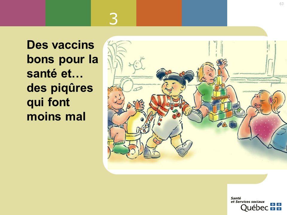 3 Des vaccins bons pour la santé et… des piqûres qui font moins mal