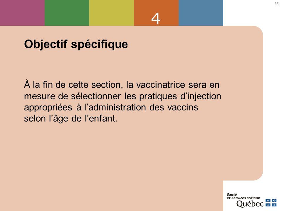 4 Objectif spécifique.