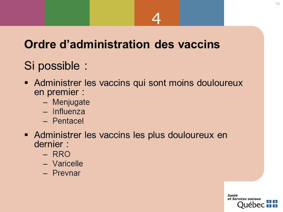 Ordre d'administration des vaccins