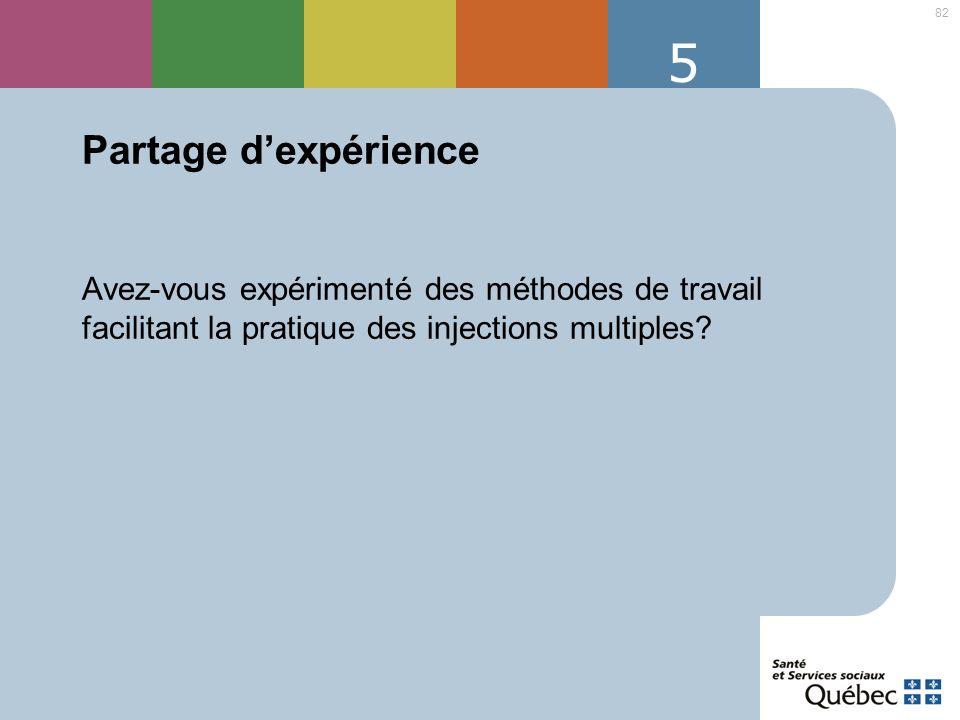 5 Partage d'expérience.