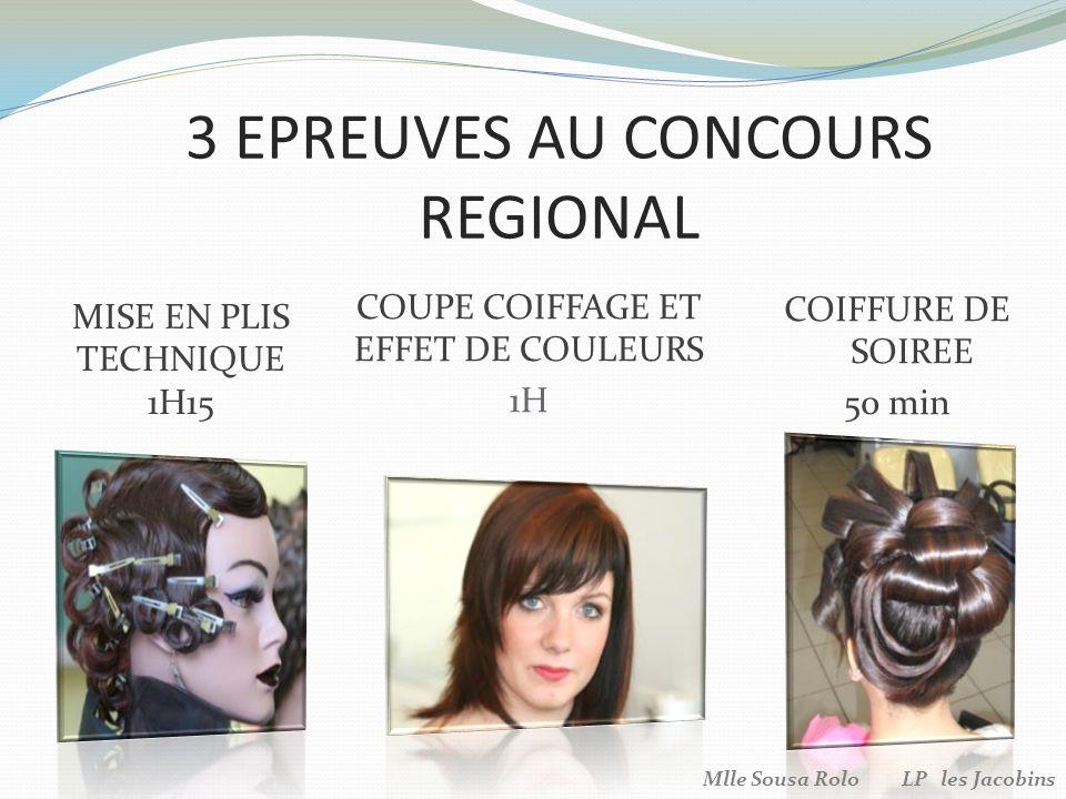 3 EPREUVES AU CONCOURS REGIONAL