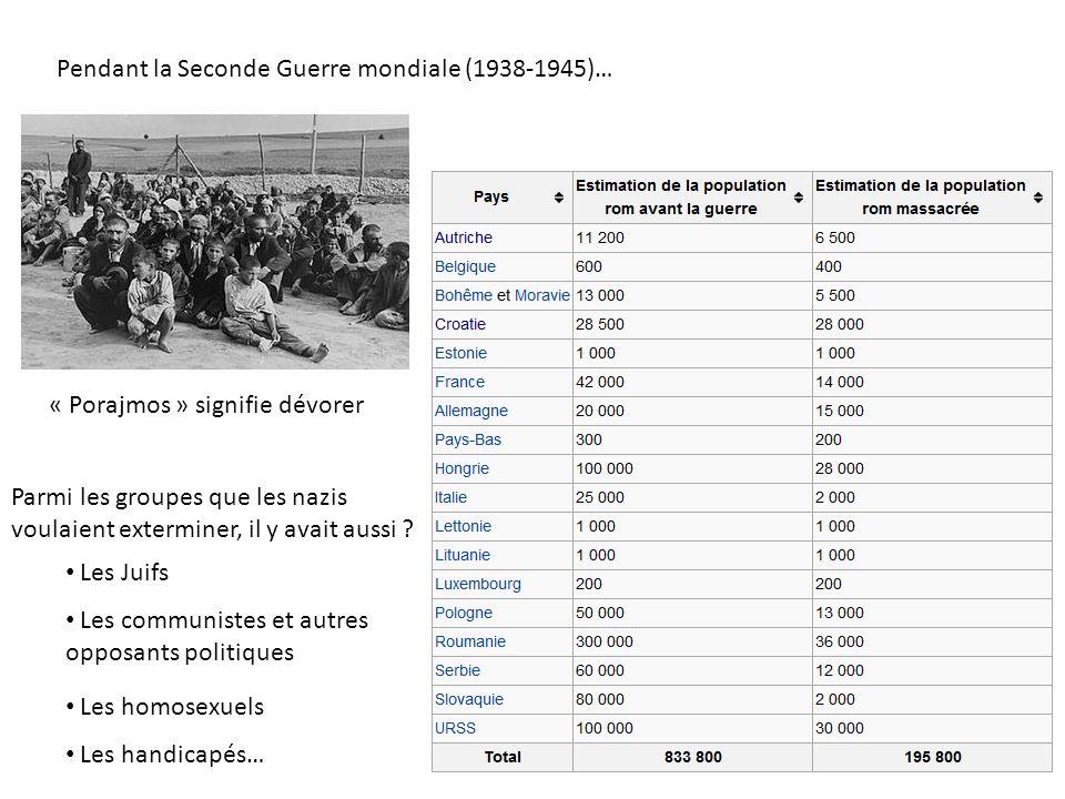Pendant la Seconde Guerre mondiale (1938-1945)…