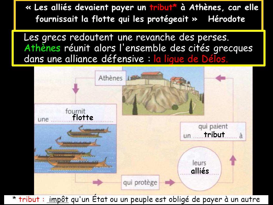 Les grecs redoutent une revanche des perses.
