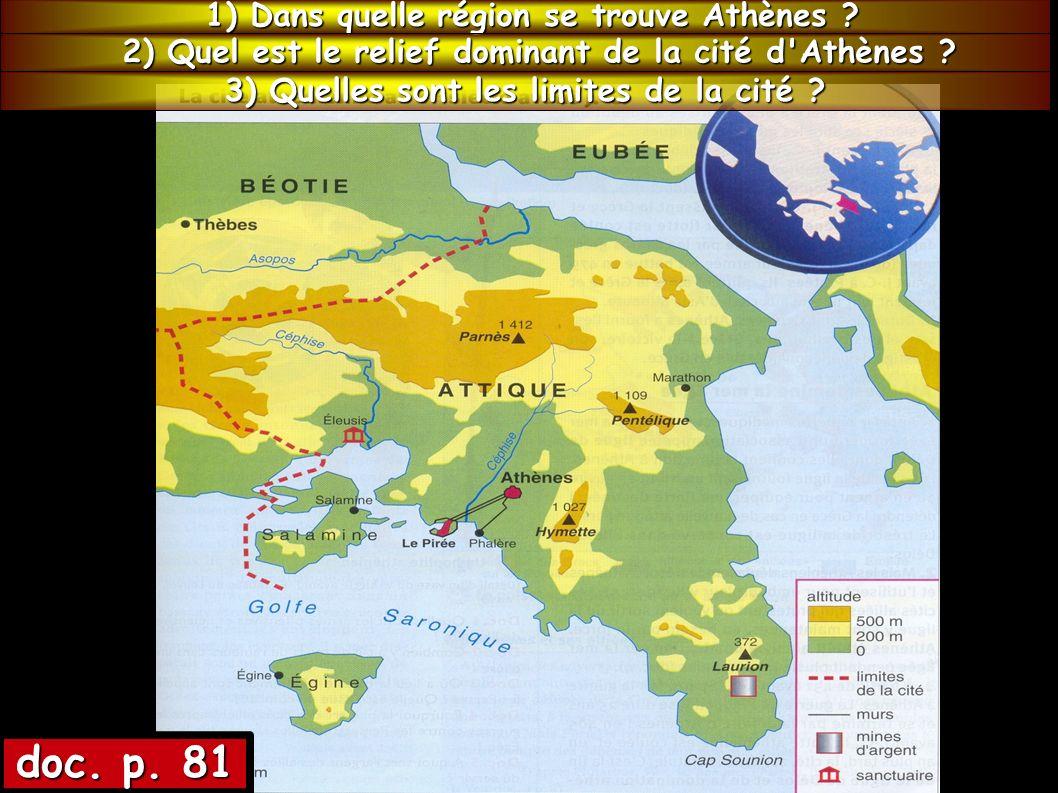 doc. p. 81 1) Dans quelle région se trouve Athènes