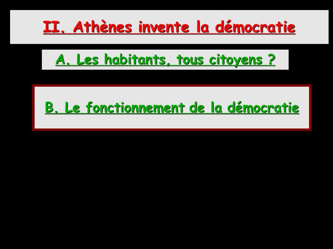 II. Athènes invente la démocratie