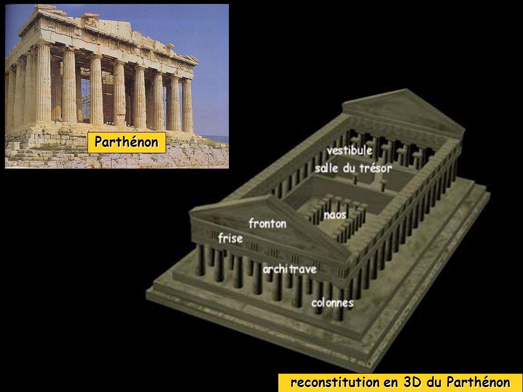 reconstitution en 3D du Parthénon